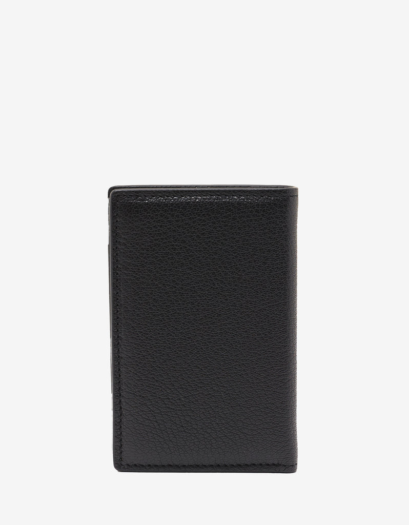 Black Grain Leather Card Wallet