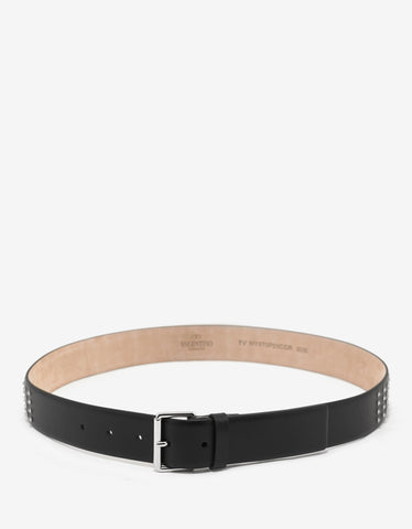 Valentino Garavani Black Leather Rockstud Belt