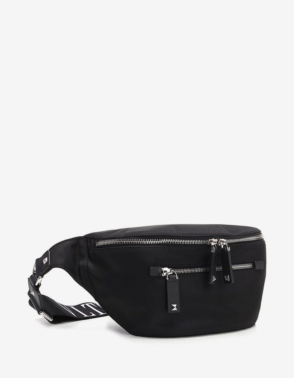 Black Nylon VLTN Waist Bag