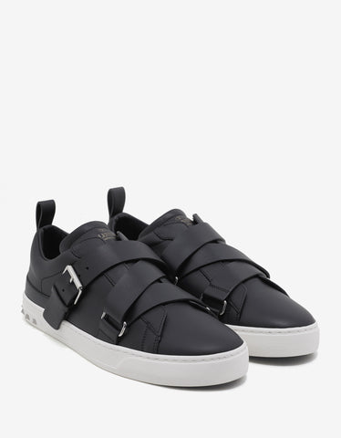 Valentino Garavani Black V-Punk Trainers with Rockstud Heel