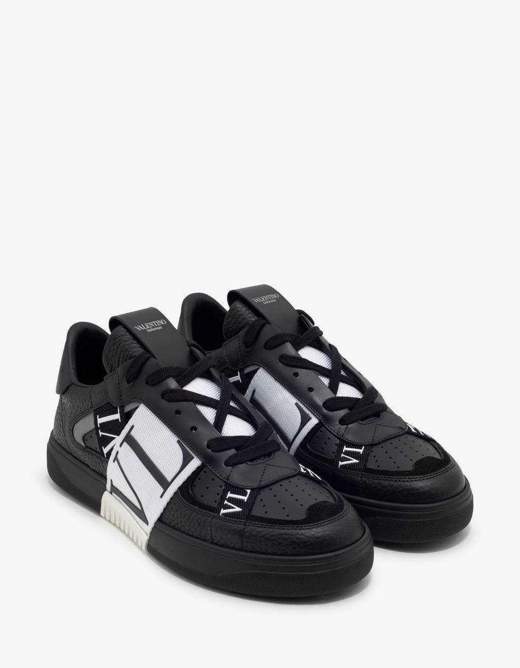 Black VL7N Trainers with Bands