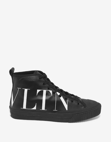 Valentino Garavani Black VLTN High Top Trainers
