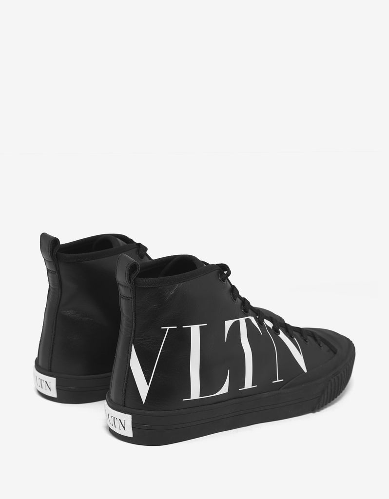 Black VLTN High Top Trainers