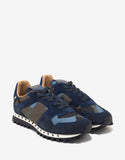 Blue & Green Camo Studded Rockrunner Trainers