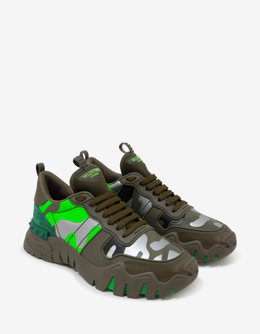 Green Camouflage Rockrunner Plus Trainers -