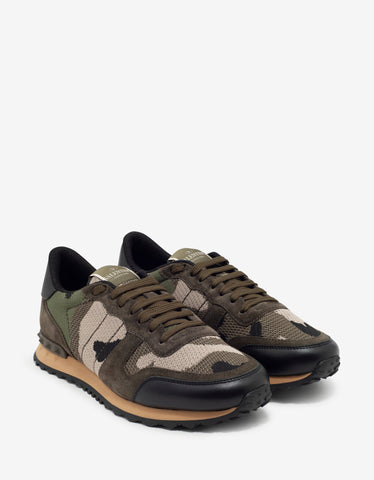 Blue & Black Camo Rockrunner Trainers