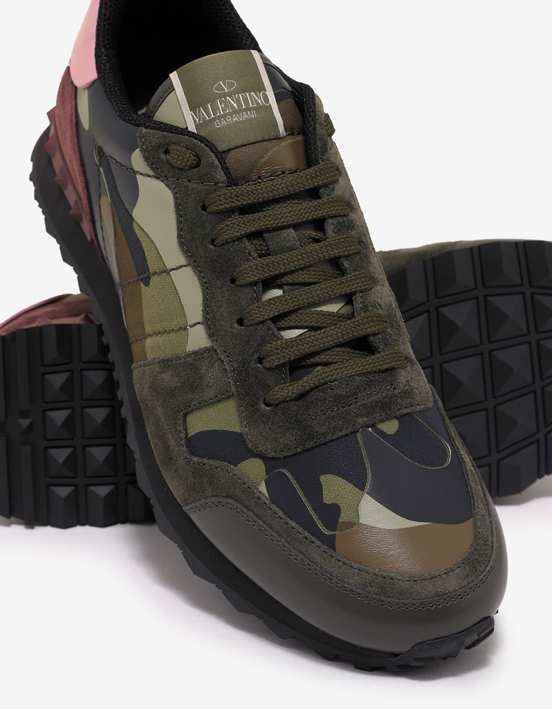 Green & Pink Camo Rockrunner Trainers