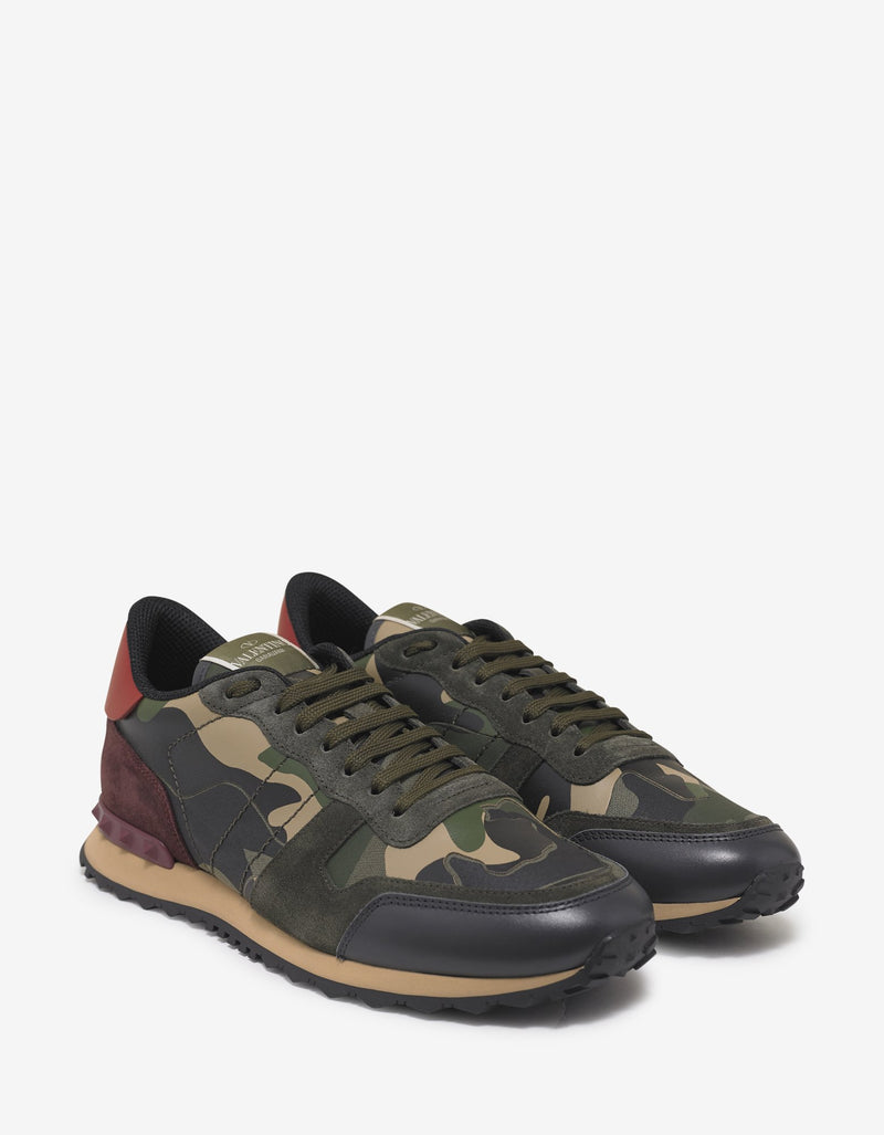Green & Red Camo Rockrunner Trainers -