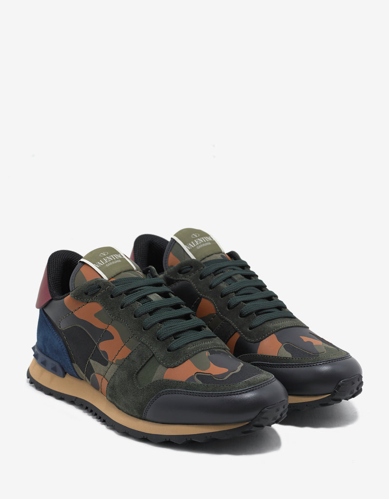Green & Orange Camouflage Rockrunner Trainers