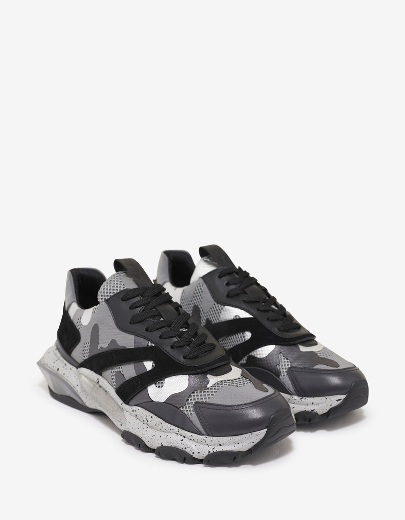 Grey Camo Bounce Trainers