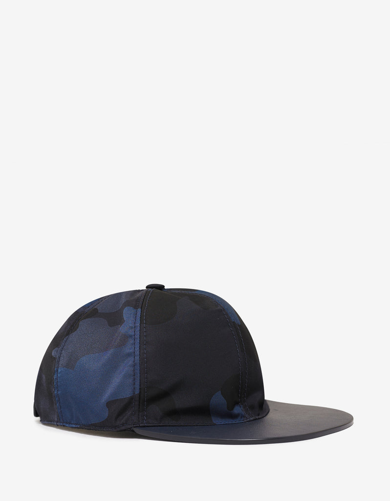 Navy Blue Camouflage Cap