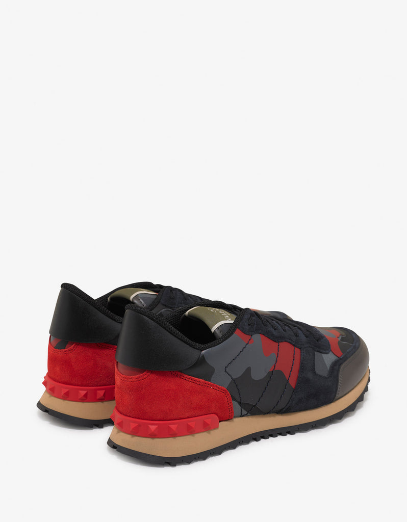 Red & Grey Camo Rockrunner Trainers