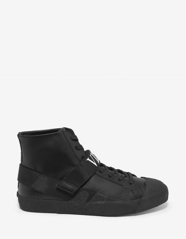Valentino Garavani Black VLTN Strap High Top Trainers