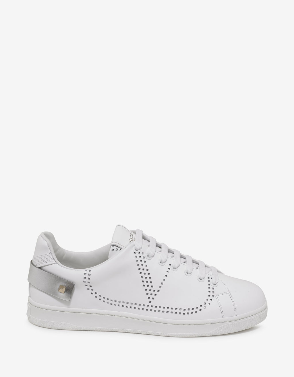 White Go Logo Tennis Trainers -
