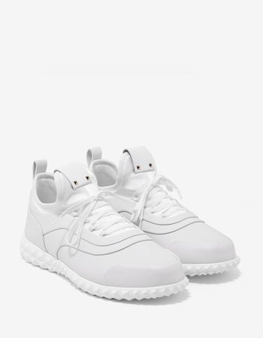 Valentino Garavani White Leather & Neoprene Trainers