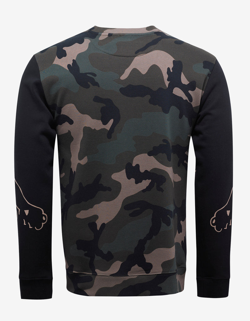 Green Camo & Panther Print Sweatshirt
