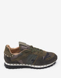 Green Camo Studded Rockrunner Trainers
