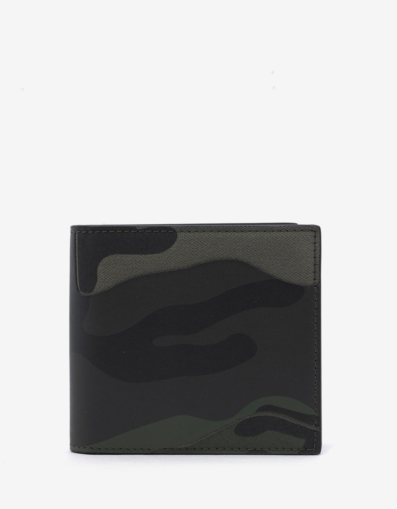 Green Camouflage Billfold Wallet