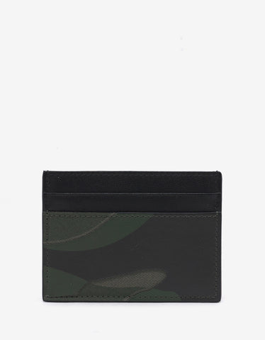 Valentino Garavani Green Camouflage Card Holder
