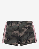 Green Camo & Selvage Print Swim Shorts