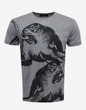 Grey Panther Print T-Shirt