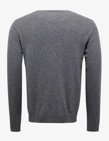 Grey Tattoo Graphic Cashmere Blend Sweater
