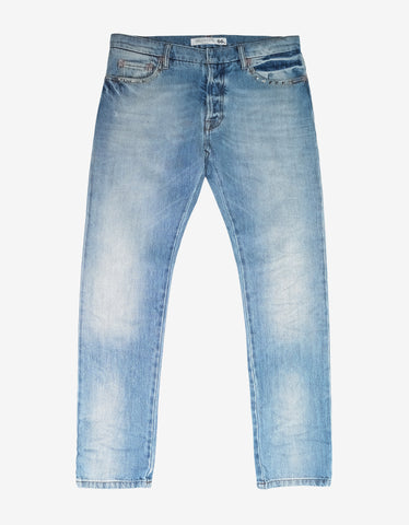 Valentino Rockstud Untitled Light Blue Denim Jeans