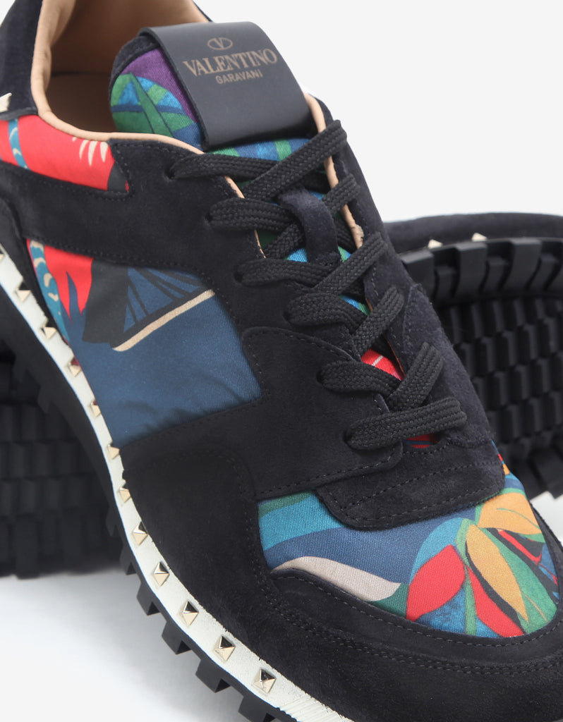 Multicolour Tropical Print Studded Rockrunner Trainers