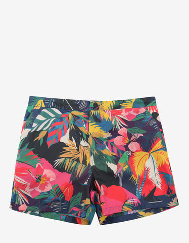 Valentino Multicolour Tropical Print Swim Shorts