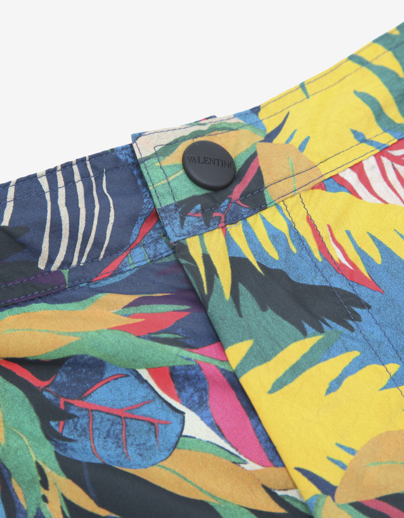 Multicolour Tropical Print Swim Shorts