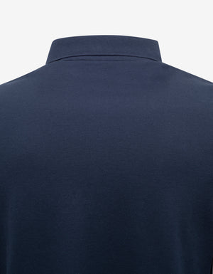 Navy Blue Polo T-Shirt with Rockstud