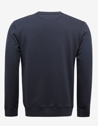 Valentino Navy Blue Text Print Sweatshirt