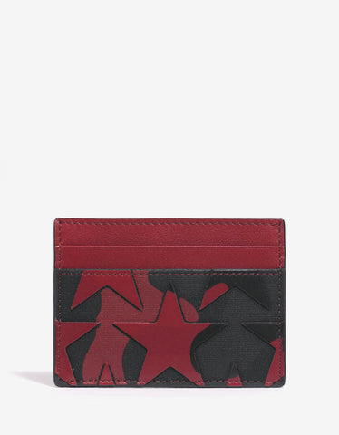 Valentino Garavani Red Camustars Card Holder