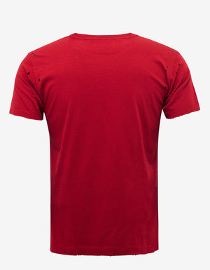 Red Jamie Reid Print Distressed T-Shirt