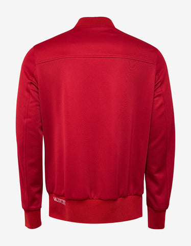 Valentino Red Track Jacket with White Stripes