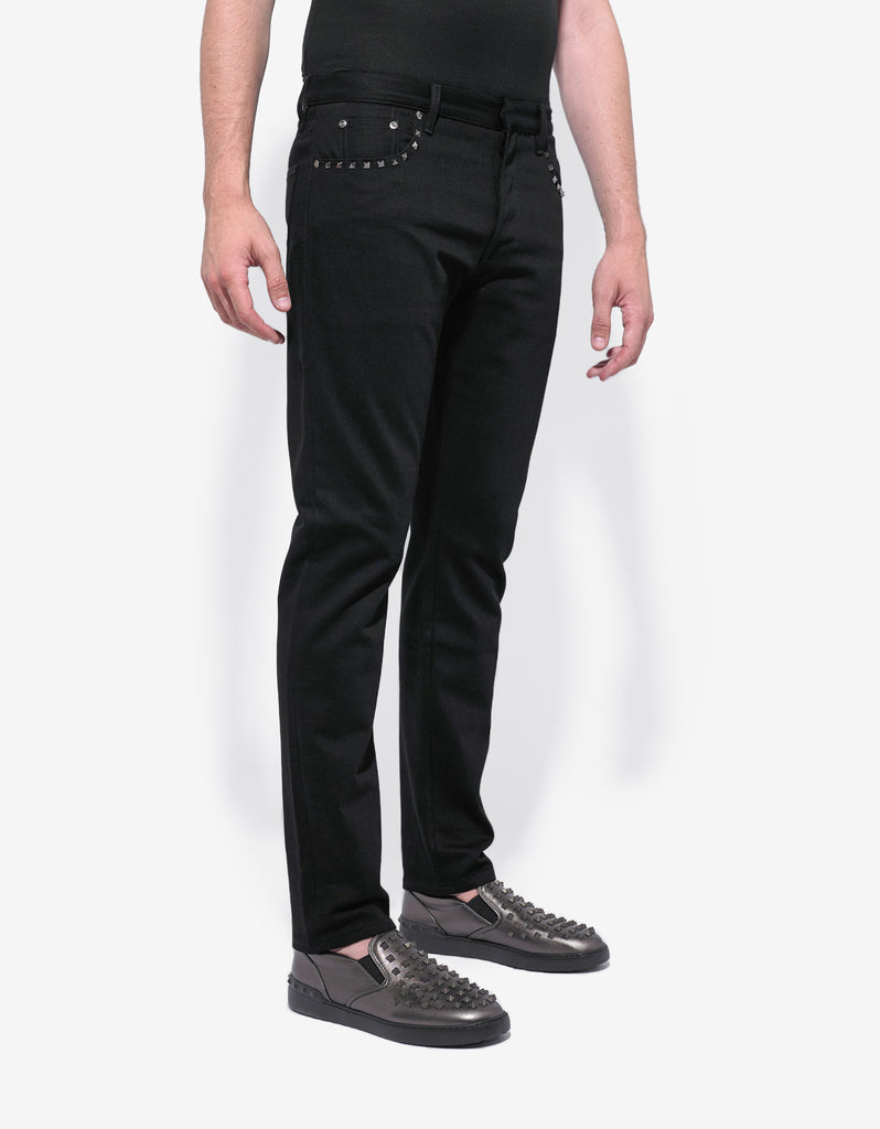 Rockstud Untitled Black Denim Jeans