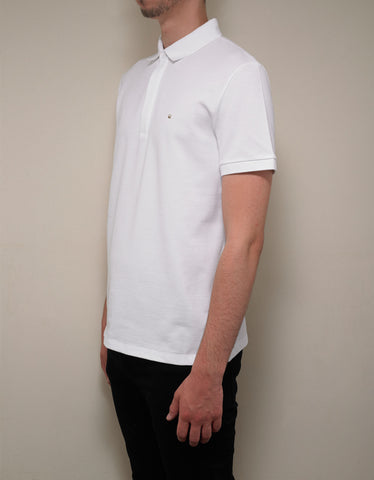 Valentino White Polo T-Shirt with Rockstud