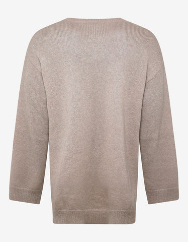 Valentino Undercover Beige V Face UFO Oversized Sweater
