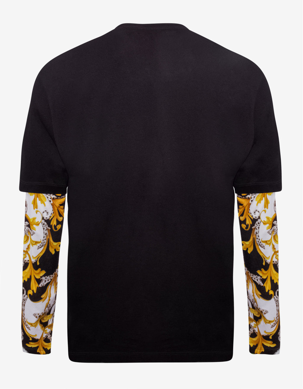 Black Contrast Long Sleeve T-Shirt