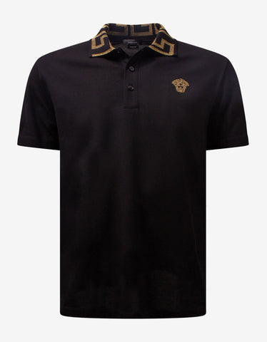Khaki Logo Embroidery Polo T-Shirt