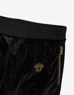 Black Velvet Logo Sweat Pants