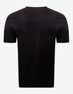 Black Via Gesù Plaque Print T-Shirt