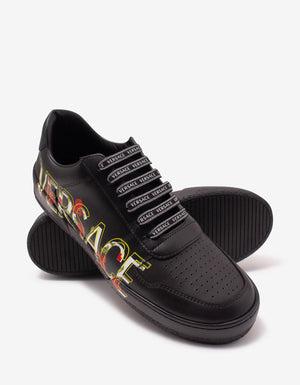 Ilus Black Logo Trainers