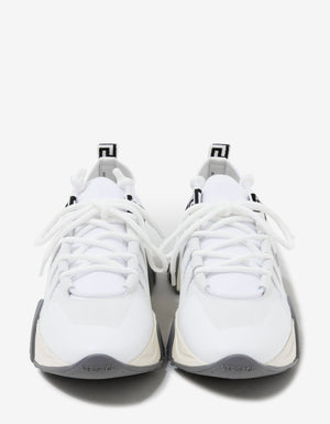 Squalo White Knit Trainers -