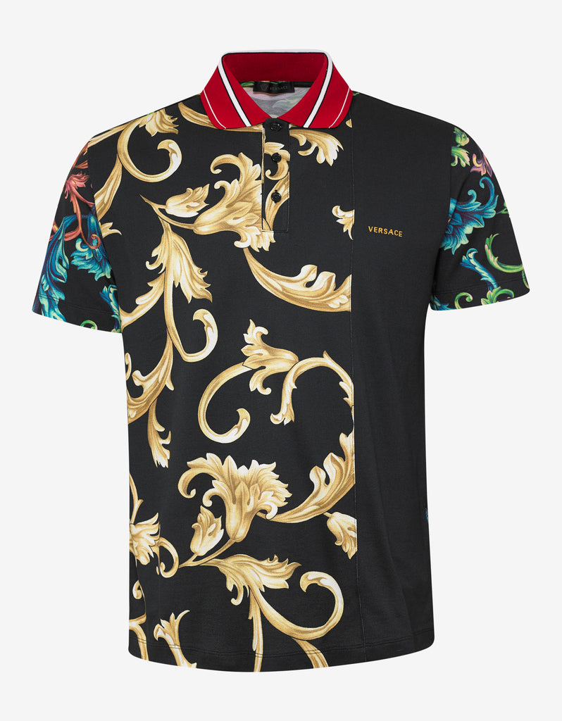 Acid Baroque Print Polo T-Shirt