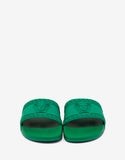 Amazon Green Medusa Embossed Slide Sandals
