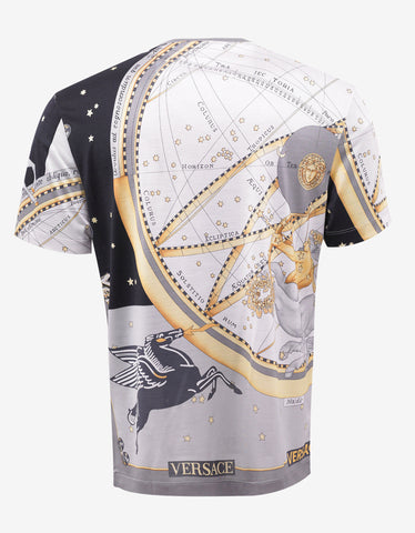 Versace Astrological Print Silk T-Shirt