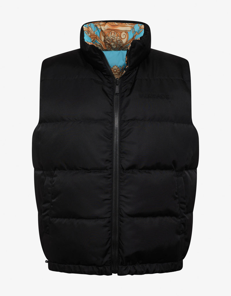 Barocco Homme Print Reversible Gilet