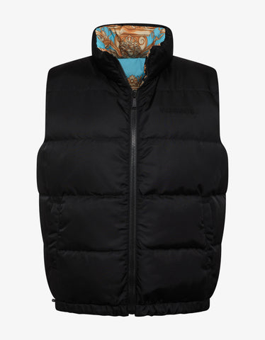 Versace Barocco Homme Print Reversible Gilet