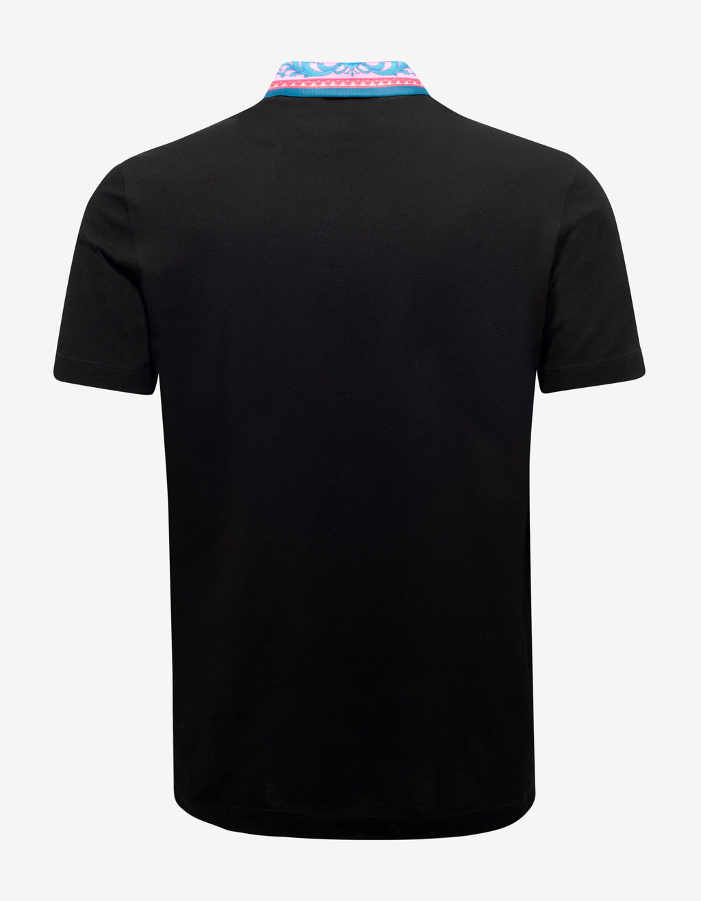 Black Barocco Collar Polo T-Shirt